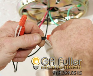 Ceiling fixture installations by Fuller Electrical
